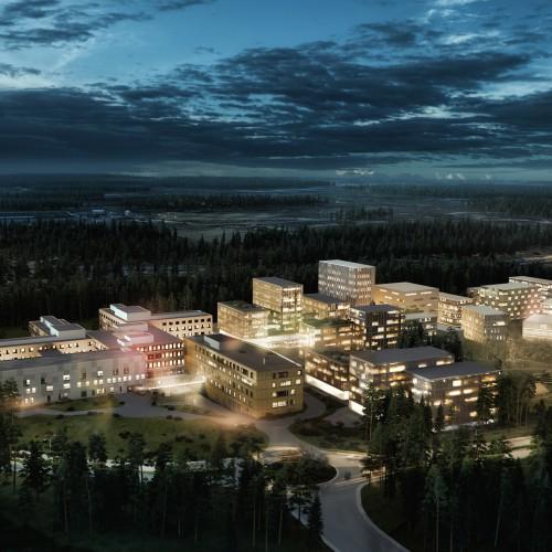 Gardermoen Campus. Illustrasjon av Nordic - Office of Architecture.